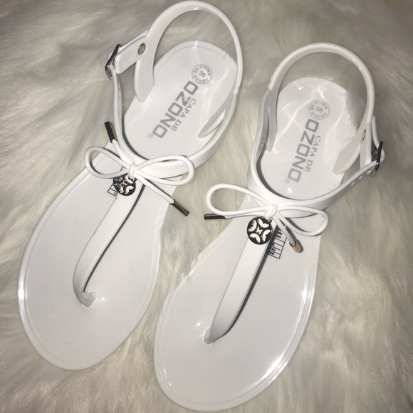 Cute White Sandals, NEW!